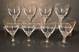 (8) Stems of Crystal Stemware--Water