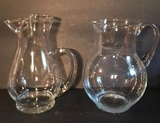 (2) Crystal Water Pitchers