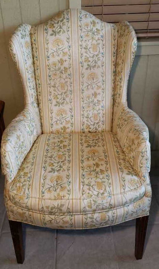 Upholstered Wingback Chair-Ashley Manor