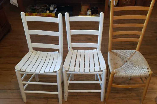 (3) Ladderback Chairs
