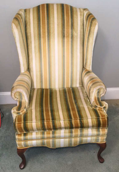 Queen-Anne Style Wing Chair
