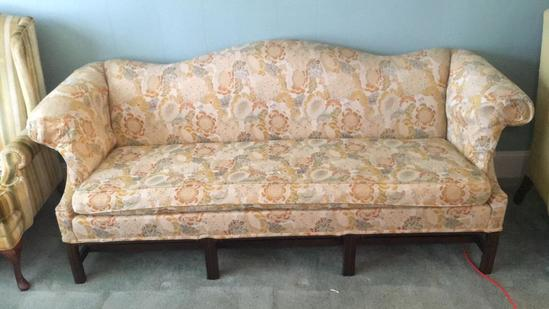 """Chippenddale Style Sofa--84"""" Long"""