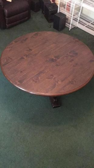 """47"""" Round Pedstal Coffee Table (Cut Down Dining"""