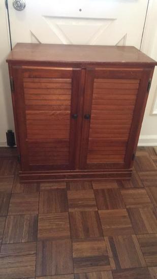 """2-Door Wooden Stand - 26 1/2"""" x 15"""", 28""""H"""