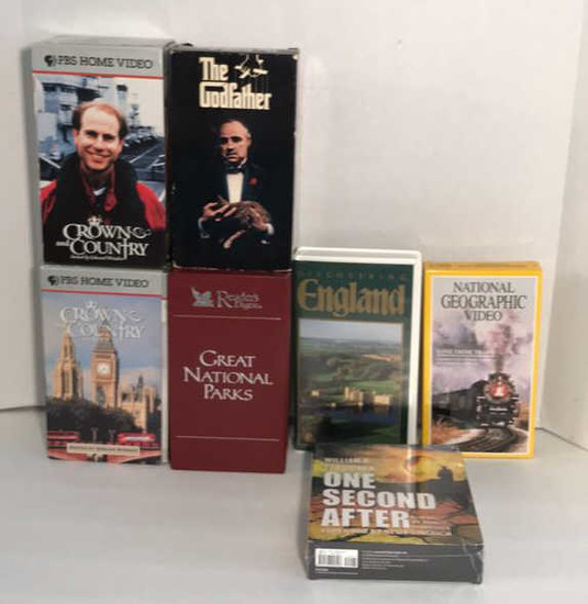 Assorted VHS Tapes and 1 Audio Book