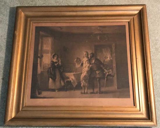"Framed Antique Steel Engraving --""Anne Page"