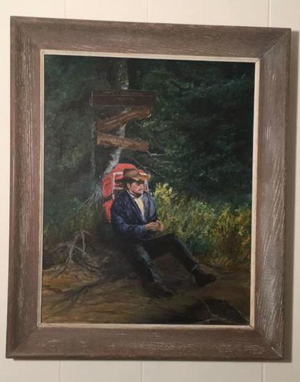 """Framed Oil Painting—20"""" x 23 3/4"""" Framed"""