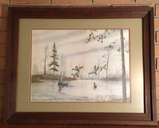 Framed and Double Matted Signed
