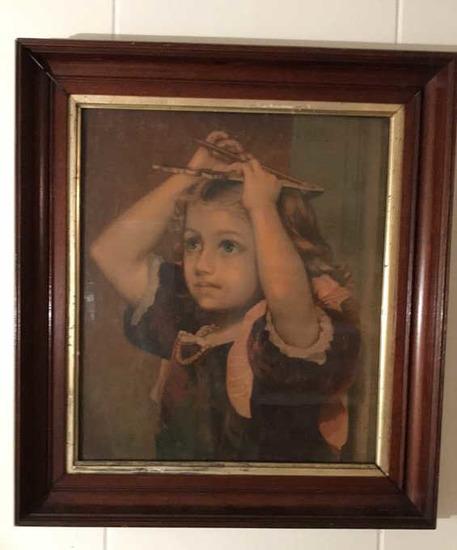 """Vintage Framed Print--16 1/4"""" x 18"""" Framed"""