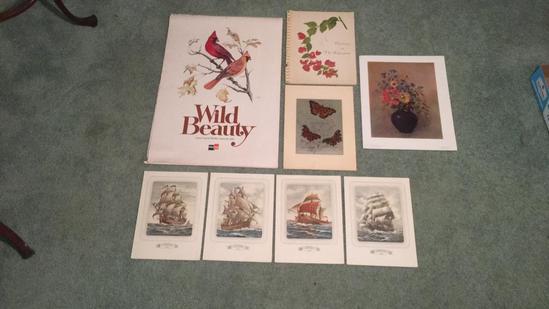 Assorted Unframed Prints & 1981 Calendar
