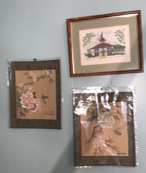 """Framed & Matted Needlepoint Picture--10 3/4"""""""