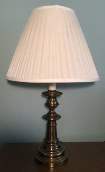 "Brass Table Lamp--28 3/4"" High"