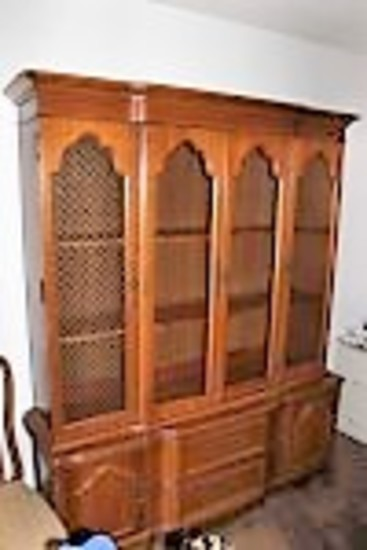 French Provincial-Style China Cabinet by Bassett