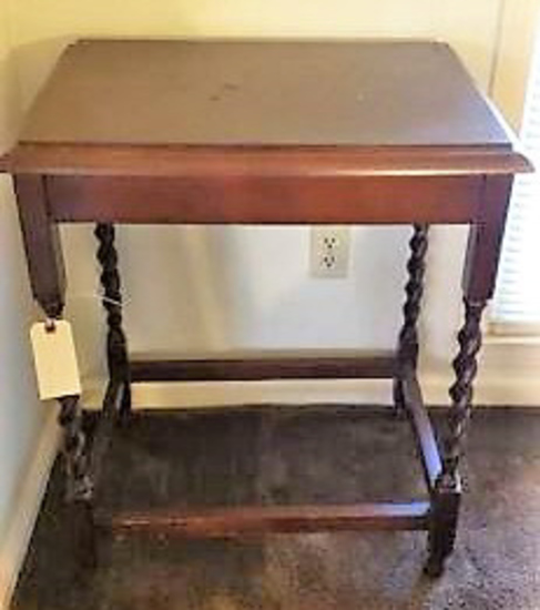 "Side Table w/Barley Twist Legs--23 1/2"" x 17"" x"
