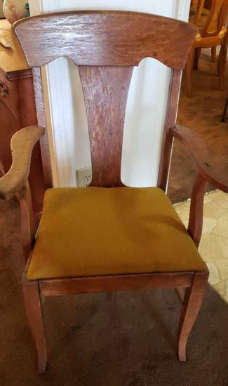 Oak Chair w/Upholstered Seat