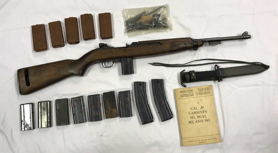 M1 Carbine .30 Cal. w/ (15) Clips,