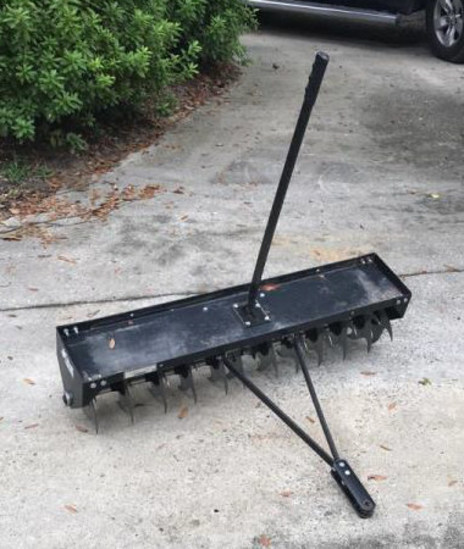 Lawn Aeriator for Pulling Behind a Garden Tractor