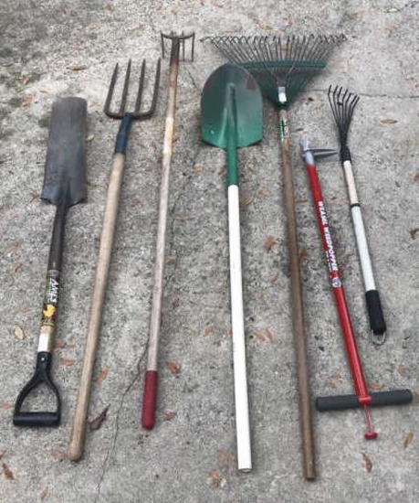 (7) Long Handle Garden Tools