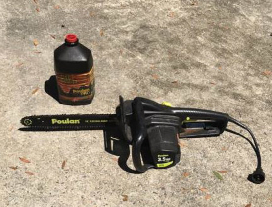Poulan 16 Inch 3.5 HP Electric Chain Saw and Bar
