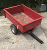 Small Utility Dump Trailer for Pulling Behind a