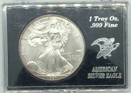 1997 One Dollar One Ounce Silver Eagle Bullion