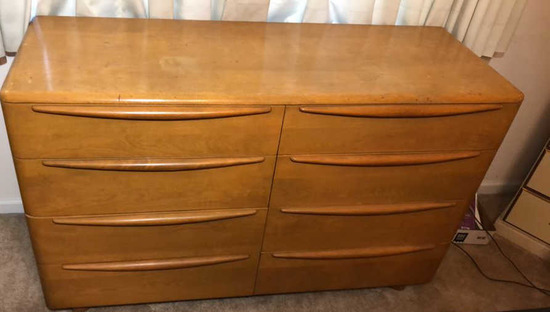 Heywood Wakefield Mid-Century Modern 8-Drawer Mid Century Modern Dresser