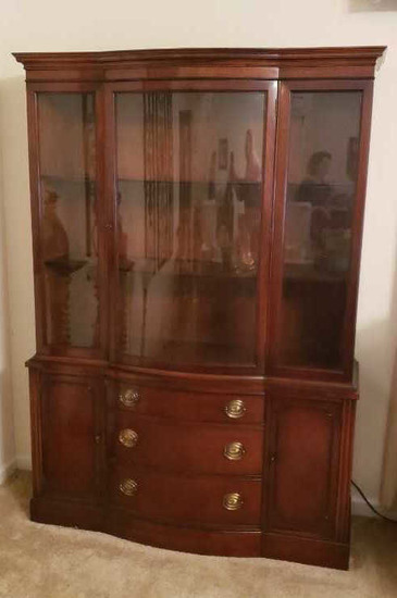 Drexel Furniture Company Mahogany Curved Front