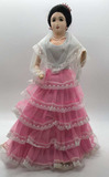 Maruja Doll In Pink Lace Skirt