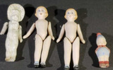 (4) Small Bisque Dolls