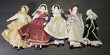 (5) Porcelain Dolls