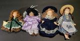 (4) Porcelain Dolls: 4