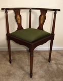 Corner Chair with Inlaid Design