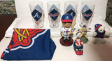Assorted Braves Items: (4) Tumblers, Bobblehead,