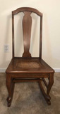 Vintage Rocking Chair with Cane Seat