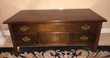 Queen Anne Style Coffee Table with Brass