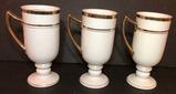(3) Royal Porcelain Footed Mugs