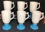 (6) Hall Coffee Mugs