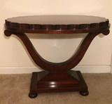Mahogany Oval Coffe Table--27