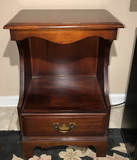 Mahogany 1-Drawer Side Table by Hungerford