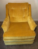 Yellow Upholstered Chair