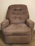 Upholstered Recliner with Tufted Back