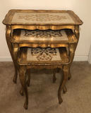 Set of 3 Florentine (Italy) Nesting Tables