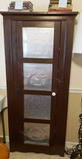 One Door Cabinet with (4) Punched Tin Panel