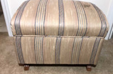 Upholstered Lift Top Hinged Ottoman/Storage Bench