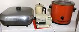 (3) Small Appliances: Crock Pot, Oster Knife
