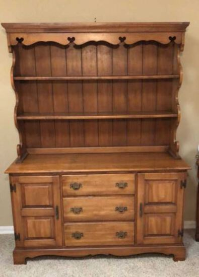 """Hutch--52"""" x 17"""", 69"""" High--Hutch is in (2) Pieces"""
