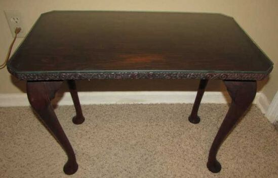Coffee Table with Cabriole Legs & Carved