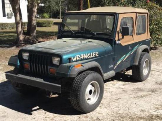 1995 Jeep Wrangler 2-Door Vin# 1J4FY19P3SP217460 - with 110,523 Miles -
