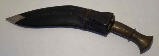 Rasto Khukri Knife w/ Brass Handle &