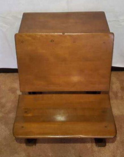 Antique School Desk--Patent July 4, 1916